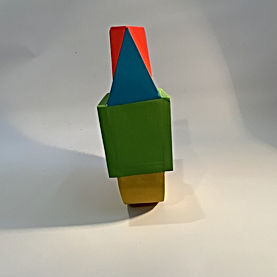geometric sculpture, bauhaus art, maximalist, color halation, emerging art, colorful sculpture, art during covid 2020