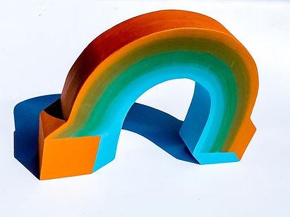 chaos rainbow, israeli sculpture, jessica moritz, hard edge art, colorfield sculpture, sustainable art, judy chicago art, geometric artist, tel aviv artist