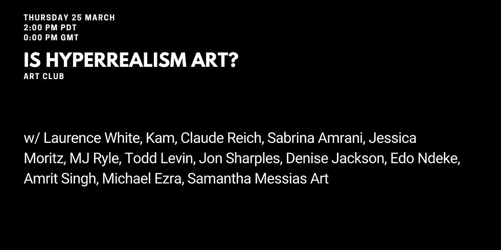 Is hyperrealism art?