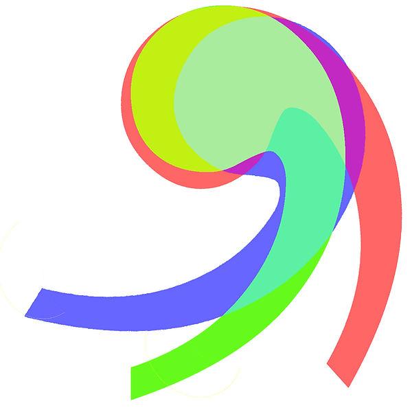 digital art, rgb art, color theory, font based art, overlay art, colorfield art
