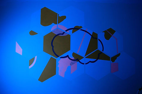 led rgb art, immersive art, mural interactive, tlv mural, private collection art, cloud geometry, climate crisis