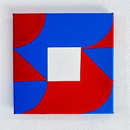 lumen by Jessica Moritz, chromostereopsis, carmen herrera, frank stella art, ellsworth kelly painting, hard edge painting, square painting, geometric art for sale