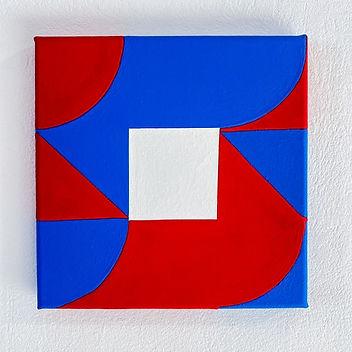 lumen by Jessica Moritz, square painting, hard edge art, hard edge painting, geometric abstraction art, geometric painting, op art painter, optical art painting, tel aviv artist