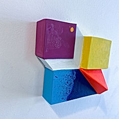 colorfield art,jpg,sharpen angles, colorfield painting, painting sculpture, 3D art, optical art, shadow play, color block, israeli artist, woman artist to watch 2021, Art basel 2021