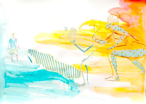 summer tel aviv, beach tel aviv, illustration tel aviv, surface pattern artist, tel aviv culture, img