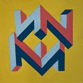 mindscape art, abstract geometric painting,img,jeszmo_art, isometric art, typism,font based artist