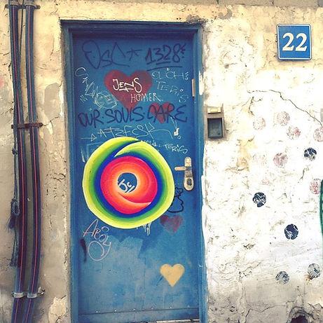 moebius, impossible geometry, hard edge art, gradient art, wheatpaste street art tlv, graffiti tlv, jessica moritz, img, israeli artist