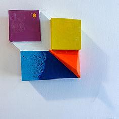assemblage sculpture,jpg,wall sculpture, minimal sculpture, geometric abstraction , hard edge sculpture, colorfield artist, geometric artist, israeli artist