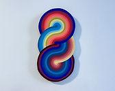 light torus, wall sculpture by Jessica Moritz, light painter, colorfield artist, mindful art