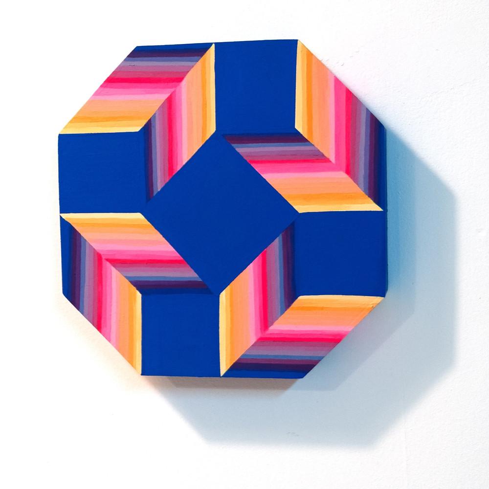 wall sculpture, optical art, op art, hard edge art, jessica moritz, colorfield artist, buy israeli art