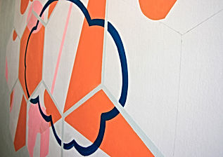 mural painting israel, home interior tlv, commission wall art, art and science, abstract geometry, cloud theory