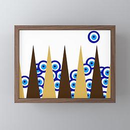 sheshbesh, framed art work for sale, backgammon design art, israeli art, tel aviv art