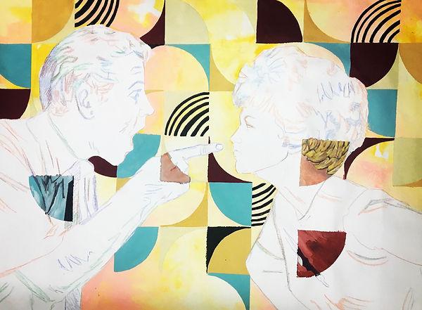 Painting, contemporary art, tel aviv, color pencil, jessica moritz