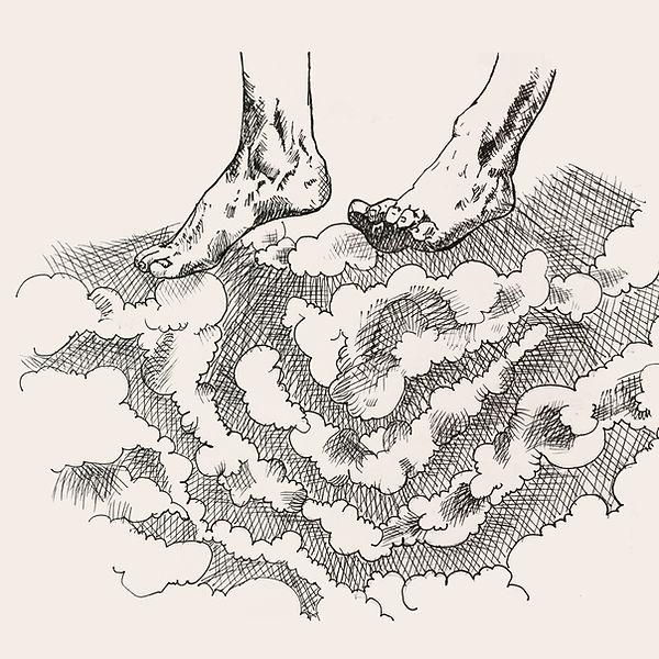 jessica moritz, pope surrealist illustration, ink surrealist, line crossing art, allegory art, surrealism art, israeli drawing