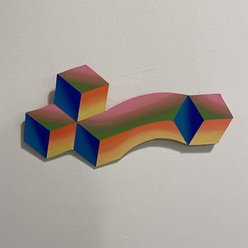 escher art, impossible geometry, mindfuck, covid art tel aviv, tessellation, gradient, color therapy israel