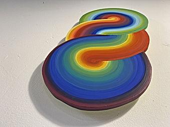 Torus full Spectrum, colorfield painting by Jessica Moritz, Israeli artist