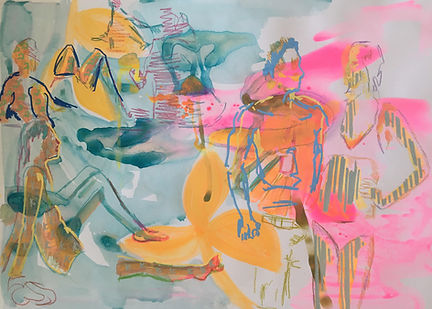 summer tel aviv, img, tel aviv art, tlv drawing, illustration tel aviv, colorfield illustration, jeszmo_art