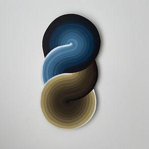 spiral gradient, minimal art, op art, quarantine art, israeli artist, geometric abstract painting, jpeg, artist on saatchi, gradient art