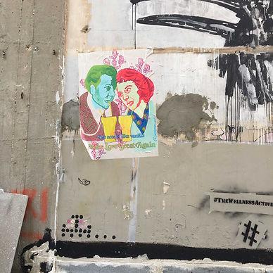 jessica moritz, wheat paste, israel graffti, tel aviv art, tel aviv street art, public art israel,street art israel, make love great again, poster, painting,גרפיטי,אומנות רחוב,ציור,ציורים,אמנות למכירה,,art for sale, buy art from living artist
