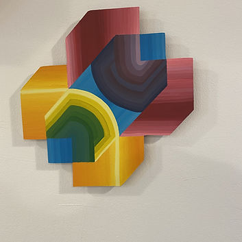 hyper cube art, color spectrum, color prism painting, israeli art, gradient painting, hard edge painting, img, tel aviv artist