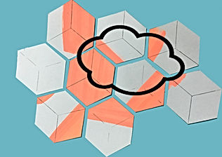cloud geometry, art and science, co2 art, Art for climate, sustainable art, Mural art home decor