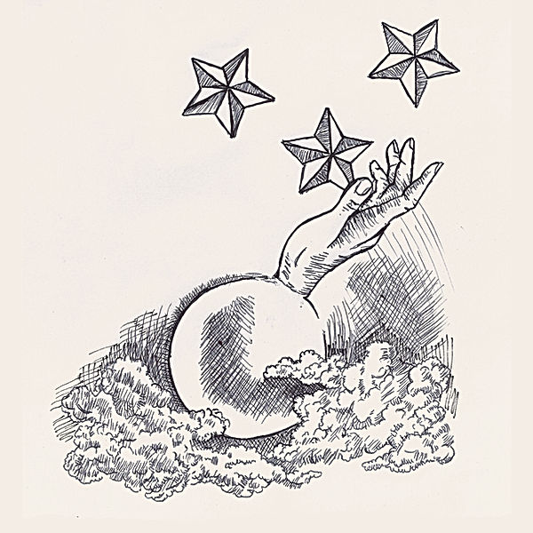jessica moritz, gambling on the stars, ballpen illustration,surrealism, pop surrealist drawing, jpeg, lightworker symbol, line art dope, reddit art, collect israeli drawing