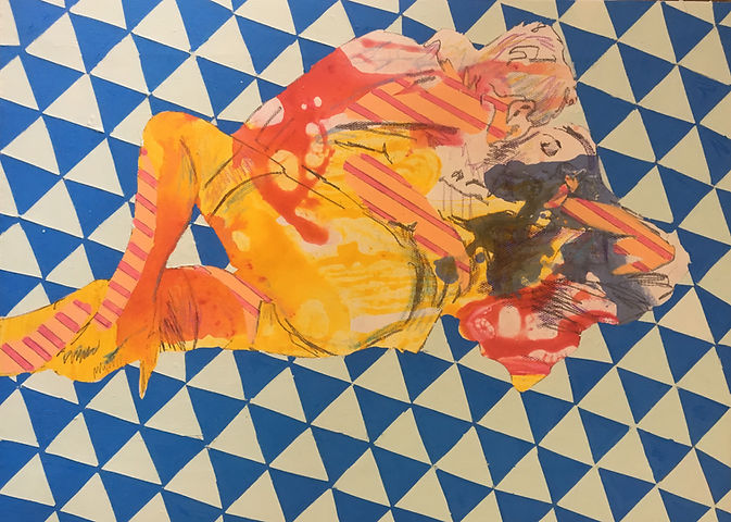contemporary art, painting, jessica moritz, israel, tel aviv, erotic art, drawing