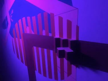 corner strokes, rgb art, led art, mural light, rgb light colors, tel aviv commission art