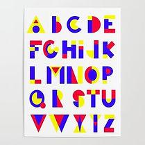 bauhaus alphabet, abc bauhaus, bauhaus design, bauhaus interior, jessica moritz,jeszmo_art, bauhaus artist, inspired by bauhaus