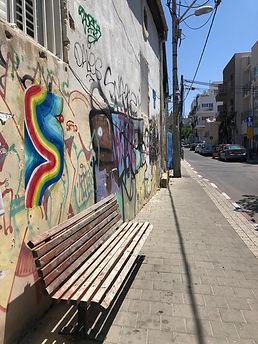 street view tlv 2020, urban intervention tel aviv, wheatpaste art israel, hard edge paintint, ephemere art, art during covd 19, img