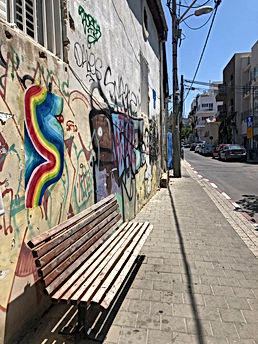 street view tlv 2020, urban intervention tel aviv, wheatpaste art israel, hard edge paintint, ephemere art, art during covd 19, img