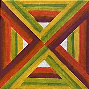 mindscape, typism,op art, optical illusion painting, hard edge painting, saatchi artist,tel aviv artist