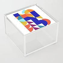 geometric abstract, acrylic box, israeli design, hard edge art, minimal colorful, maximalism interior, colorful home, fall 2020 art selection