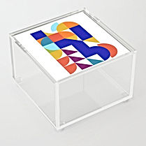 geometric abstract, acrylic box, israeli design, hard edge art, minimal colorful, maximalism interior, colorful home, fall 2020 art selection