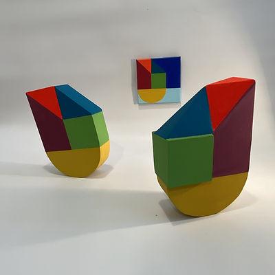 color block sculpture, color block design, design art, designer goals 2020, Art is design, neo geo sculpture