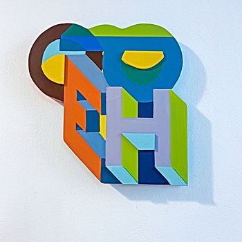 hope by jessica Moritz, font based art, visual poetry, isometric fonts, isometric art, geometric art, hard edge art, colorfield artist,התקווה 2021,תקווה