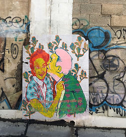 make love great again, fake art campaign, surface pattern artist, tel aviv public art, israel street art, israeli artist, MLGA
