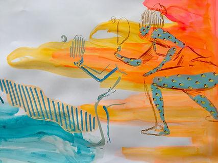 jessica moritz, surface pattern illustration, analog drawing, tel aviv bograshov,jpeg, israel beach, art tel aviv, hand drawing, fast drawing, commission art israel