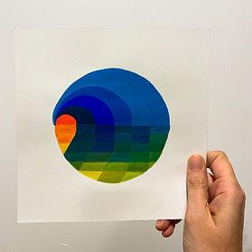 art on paper, color study, colors halation, artist on saatchi, gradient art, tel aviv artist