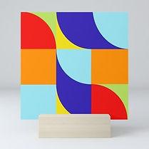 hard edge art print, colorfield art, geometric artprint, op art for sale, geometric painting, jessica moritz