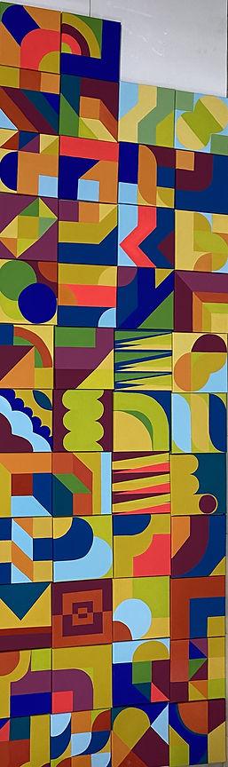 jessica moritz,square study, israeli art, tlv art, hard edge painting, color theory, josef albers, frank stella,img