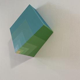 fibonaccu art, golden ratio art, mirroring art, 3D art, sustainable artist israel, colors makes me happy