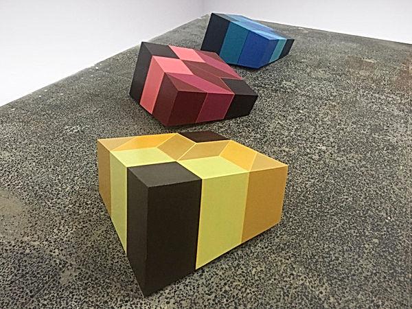 jessica moritz, installation, color theory, escher, geometric art, israeli art, installtion art, white cube, color scheme, ux art, square, 3D pattern, Tlv art, tel aviv artist, israeli art for sale,jpeg