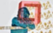 twist and shout, jessica moritz, israeli art, contemporary painting, pattern,tlv art, tel aviv artist, escher, albers, hard edge painting, art for sale, art curator