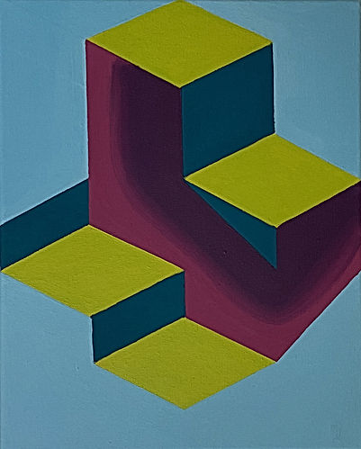 jessica moritz, hard edge painting, israeli art, tel aviv art, abstract geometry, gradient art, frank stella, sol lewitt, moritz paint,jpeg