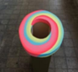 jessica moritz, installation, color theory 2019, escher, geometric art, israeli art, installtion art, white cube, color scheme, img, 3D pattern, Tlv art, tel aviv artist, israeli art for sale