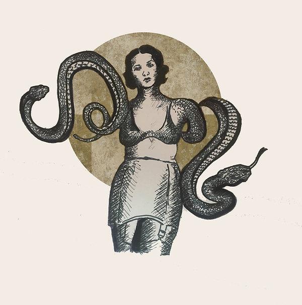 ink tel aviv, epilepsy awareness, surrealist art 2020, jpeg, gold leaf art, snake drawing, harmless drawing, illustration ink