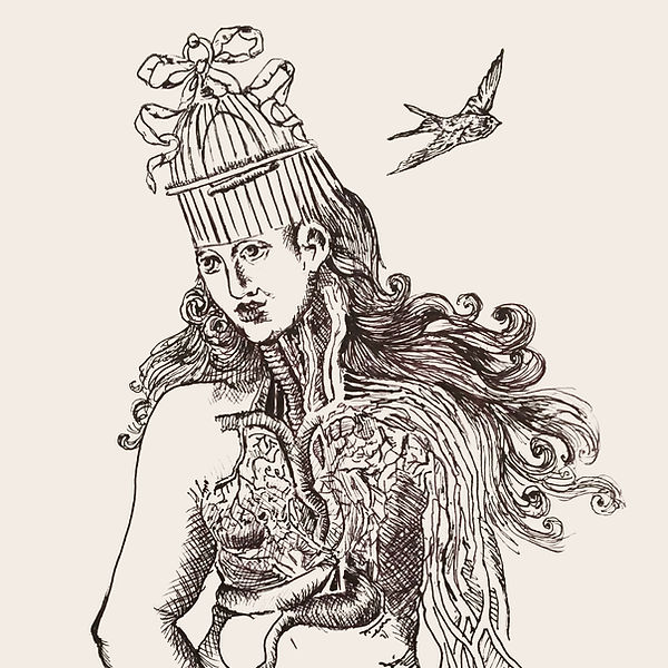 jessica moritz, anatomy illustration, mental health illustration, women illustration, free britney illustration, ink drawing, dark art illustration, ballpen drawing