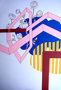 home design tel aviv, colorfield mural, organic pattern, geometric pattern, mural art design, color interactions, paintings tel aviv, img