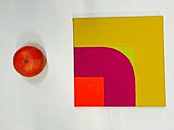 jessica moritzJPG,square study, israeli art, tlv art, hard edge painting, color theory, josef albers, frank stella